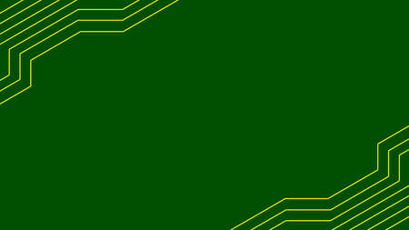 Printed circuit board. microcircuit green with copper tracks