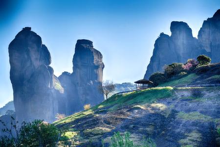 Natural phenomenal rocks resembling stone pillars reaching 400 meters. At 9 there are monasteries built.