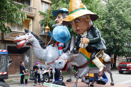 Gabrovo, Bulgaria May 19 2018.Traditional Carnival of Humor and Satire. Street art mock-ups, sculpture, satire, cartoons. Redakční
