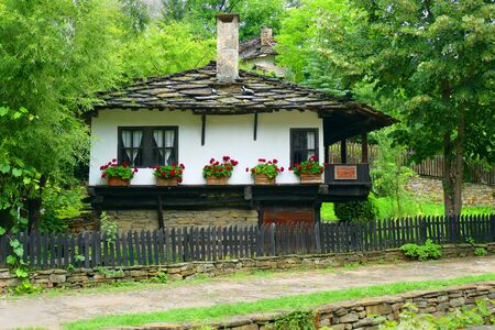 Baojentci, Bulgaria 28 June 2018. Ancient rural architecture from the 18th century. The village is an architectural reserve. Redakční