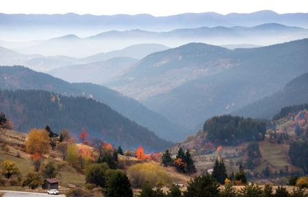 Autumn in the Rhodope Mountains, Bulgaria mountain scenery.