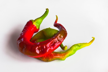 Fresh peppers of different shapes and colors. Reklamní fotografie