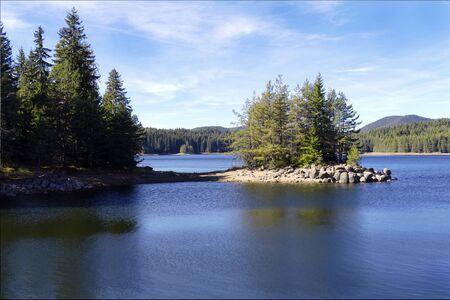 Shiroka Polyana dam, Rodopi, Bulgaria.