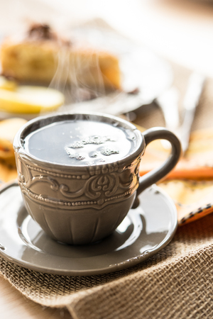 steamy: hot steamy cup of tea or coffee