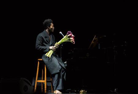 benjamin: Benjamin Clementine performing in October Palace, Kiev, Ukraine Editorial