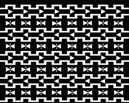 幾何学的形状の黒と白のパターン。