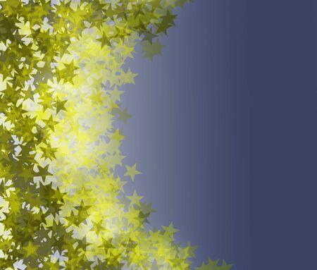 Gradient blur background with disperesed, shimmering stars. Ilustração