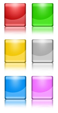 Colorful square buttons photo
