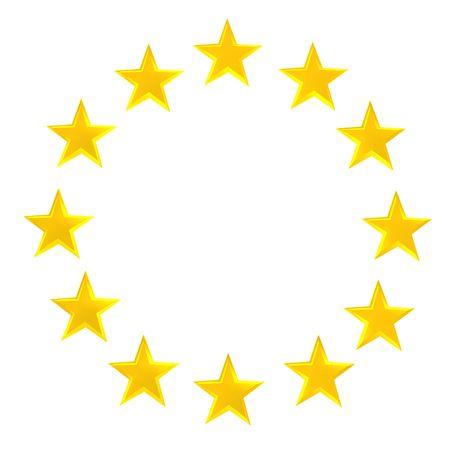 gold stars:  Star circle