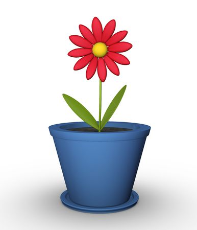 Flower in a pot Stock Photo - 6431505