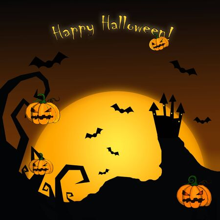 Happy Halloween card Stock Photo - 6431498