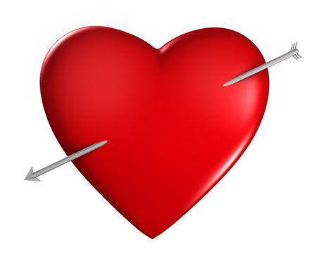 Heart with arrow photo