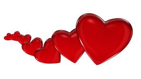 Hearts Growing Horizontal Stock Photo - 6431501