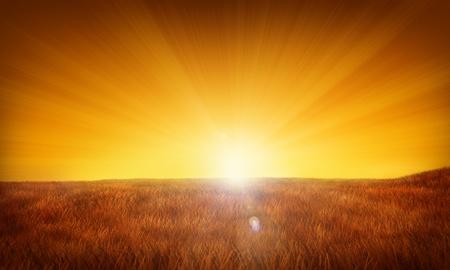 Sunrise or sunset illustration