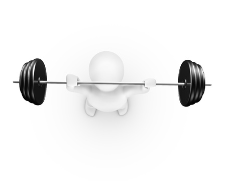 Man lifting weight top view