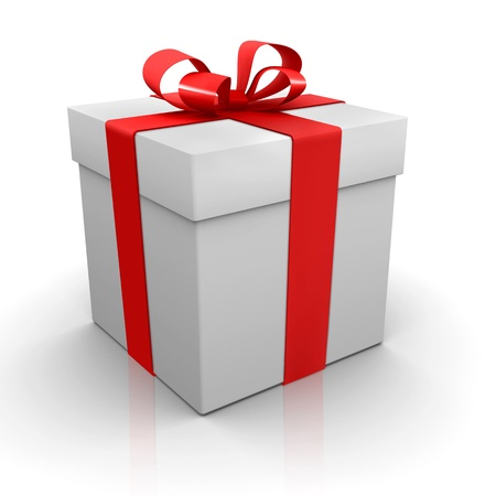 One white present Stock Photo - 12029816