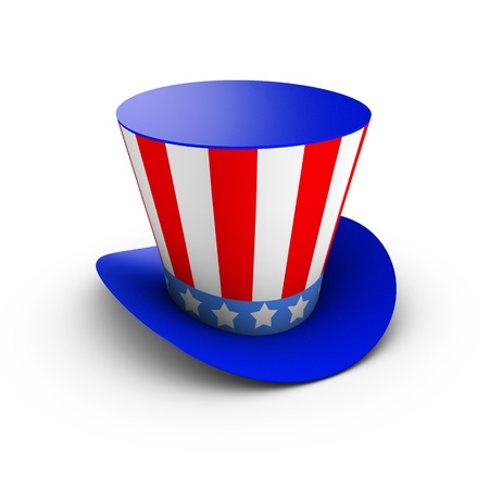 American hat isolated on white background