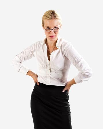 provocative woman: Business woman dangerous