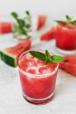 Tasty and refreshing watermelon juice