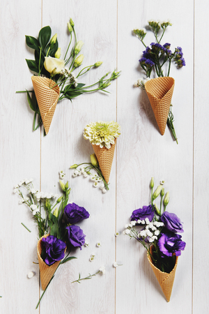 Flowers in an Ice cream cone