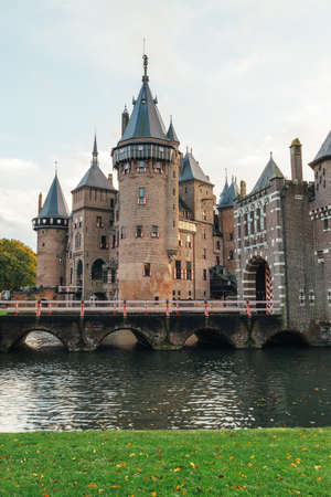 Castle de Haar in the netherlands with river