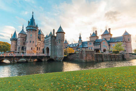 Castle de Haar in the netherlands wide angle