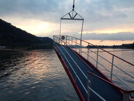 Sailing the Ohio river on the gateway clipper Stock fotó - 21546530