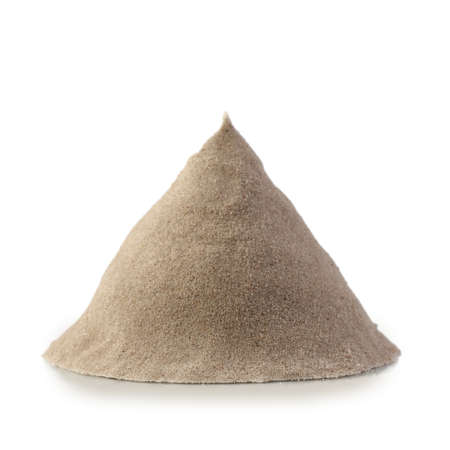Pile of sand isolated on white background. Kinetic sand.