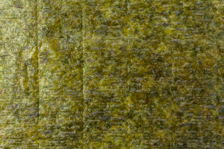 Background texture of dried nori leaf for making sushi. Standard-Bild