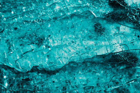 Blue ice texture background. Methamphetamine concept. Standard-Bild
