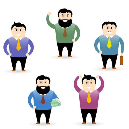office workers vector clipart set of men Ilustração
