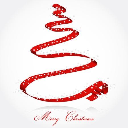 Ribbon Christmass tree Stock Vector - 10408315