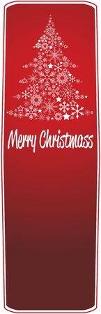 Christmas tree banner Stock Vector - 10408317