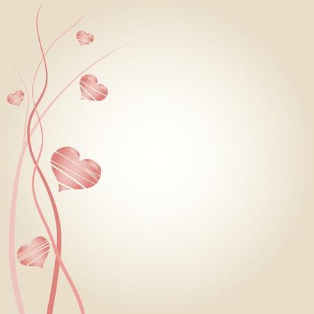 invitaci�n matrimonio: Anuncio de boda rom�ntica decorada con corazones Vectores