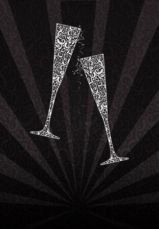 spiraglio: Bicchieri tintinnanti di pizzo Archivio Fotografico