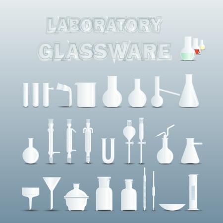material de vidrio: Cristalería de laboratorio utilizados para experimentos científicos