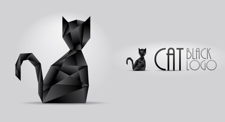diamond shaped: Black sparkling cat shaped diamond