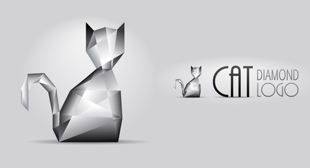 diamond shaped: Pure sparkling cat shaped diamond  Illustration