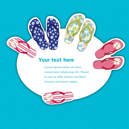 Flip flops banner with a space for text Stock Vector - 13697907
