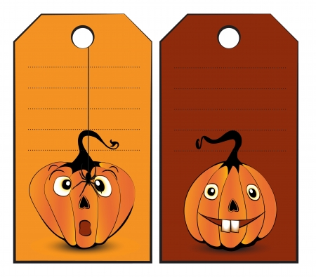 Collection of halloween banners with funny pumpkin faces on them Stock Vector - 13910585