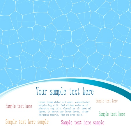 splash pool: Abstract summer background with a space for text   Illustration