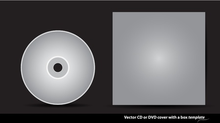 Template for creating CD or DVD covers design Stock Vector - 14172600
