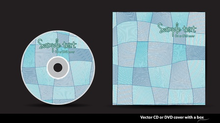 Abstract  CD or DVD cover design Vector