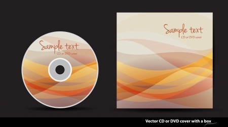 Abstract or DVD cover design Vector