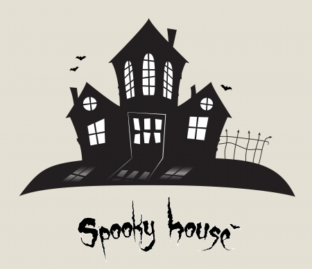 Scary spooky house, Halloween theme  Stock Vector - 15062817