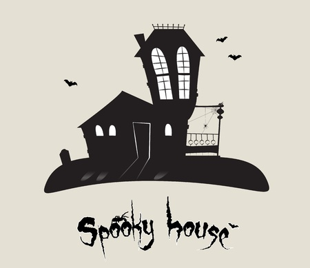 Scary spooky house, Halloween theme  Stock Vector - 15062803