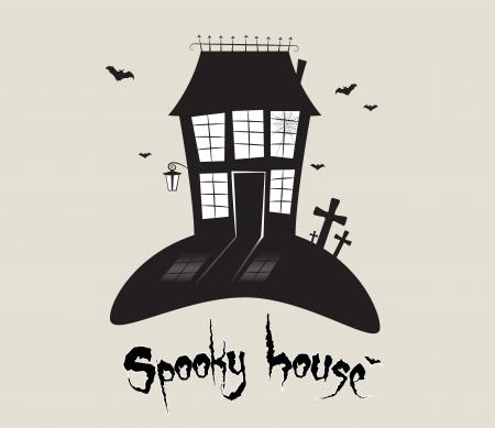 spooky house: Scary spooky house, Halloween theme