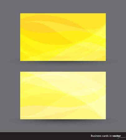 Two business cards in yellow shades Vector