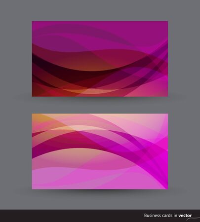 Two business cards in violet and yellow shades Stock Vector - 15062899