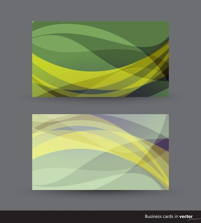 Two business cards in green and yellow shades Stock Vector - 15062900